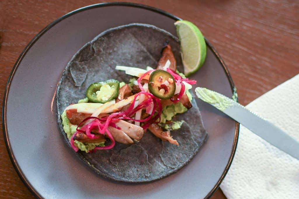 Taco's met oesterzwammen van Ottolenghi