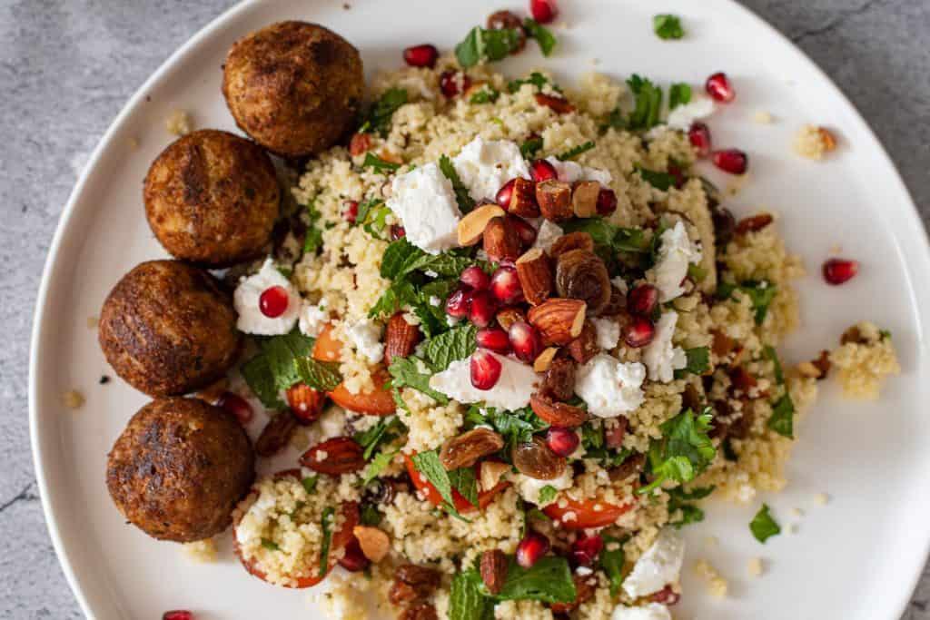 Cous cous salade met falafal