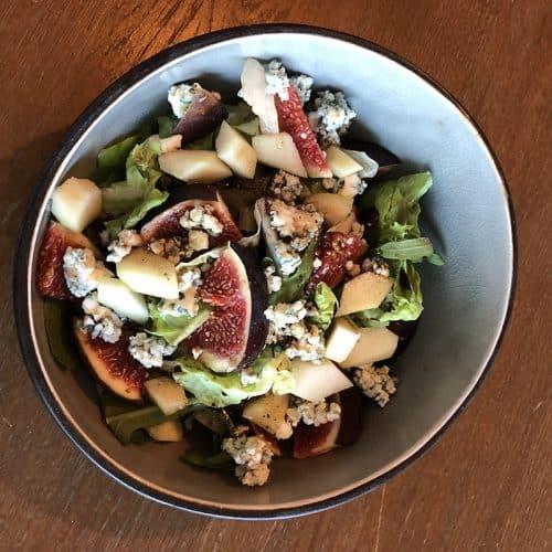 Salade met vijg en blauwe kaas
